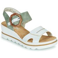 Schuhe Damen Sandalen / Sandaletten Rieker SOLLA Grün / Weiss