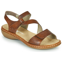 Schuhe Damen Sandalen / Sandaletten Rieker ZAZIE Braun