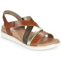 Schuhe Damen Sandalen / Sandaletten Rieker MARRO Braun / Silbern