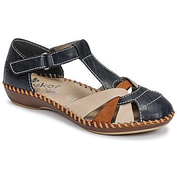 Schuhe Damen Sandalen / Sandaletten Rieker BLUE Blau / Braun