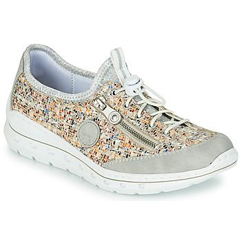 Schuhe Damen Sneaker Low Rieker GRISSA Grau / Multicolor