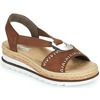 Schuhe Damen Sandalen / Sandaletten Rieker FARRO Braun