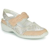Schuhe Damen Sandalen / Sandaletten Rieker ALINA Silbern