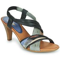 Schuhe Damen Sandalen / Sandaletten Betty London POULOI Schwarz / Grau