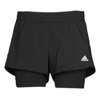 Kleidung Damen Shorts / Bermudas adidas Performance PACER 3S 2 IN 1 Schwarz