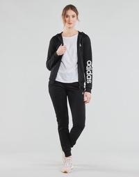 Kleidung Damen Jogginganzüge adidas Performance W LIN FT TS Schwarz