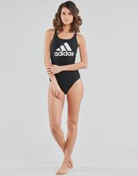 Kleidung Damen Badeanzug adidas Performance SH3.RO BOS S Schwarz