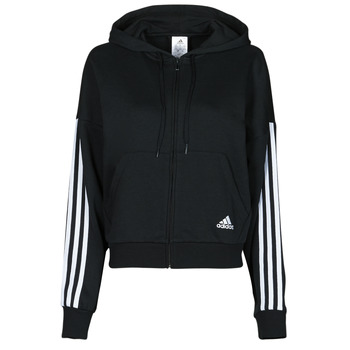 Kleidung Damen Trainingsjacken adidas Performance W 3S FZ HD Schwarz