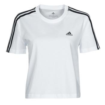 Kleidung Damen T-Shirts adidas Performance W 3S CRO T Weiss