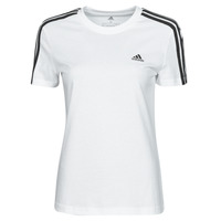 Kleidung Damen T-Shirts adidas Performance W 3S T Weiss