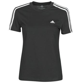 Kleidung Damen T-Shirts adidas Performance W 3S T Schwarz