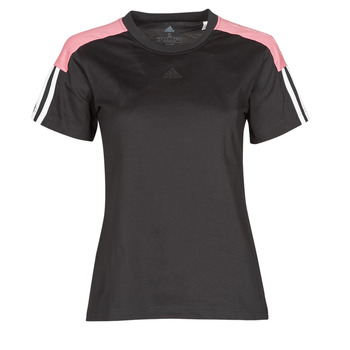 Kleidung Damen T-Shirts adidas Performance W CB LIN T Schwarz