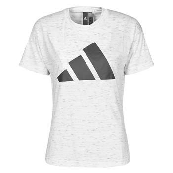Kleidung Damen T-Shirts adidas Performance W WIN 2.0 TEE Weiss
