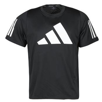 Kleidung Herren T-Shirts adidas Performance FL 3 BAR TEE Schwarz