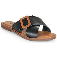 Schuhe Damen Pantoffel Refresh TRAFFA Schwarz