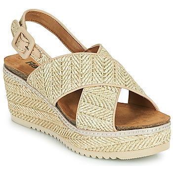 Schuhe Damen Sandalen / Sandaletten Refresh AMELA Beige