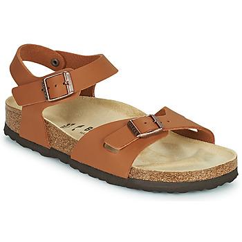 Schuhe Mädchen Sandalen / Sandaletten Birkenstock RIO Braun