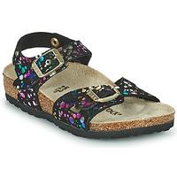 Schuhe Mädchen Sandalen / Sandaletten Birkenstock RIO Schwarz / Multicolor
