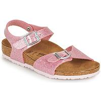 Schuhe Mädchen Sandalen / Sandaletten Birkenstock RIO PLAIN Rose