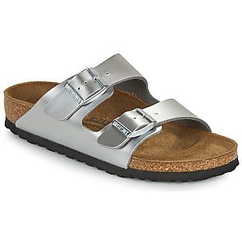 Schuhe Mädchen Pantoffel Birkenstock ARIZONA Silbern