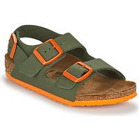 Schuhe Jungen Sandalen / Sandaletten Birkenstock MILANO Kaki / Orange