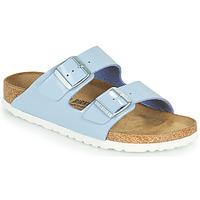 Schuhe Damen Pantoffel Birkenstock ARIZONA Blau