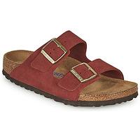 Schuhe Damen Pantoffel Birkenstock ARIZONA SFB Rot