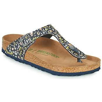Schuhe Damen Zehensandalen Birkenstock GIZEH Blau