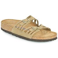 Schuhe Damen Pantoffel Birkenstock GRANADA SFB Kaki