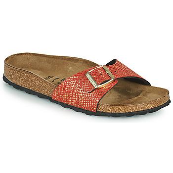Schuhe Damen Pantoffel Birkenstock MADRID Rot / Gold