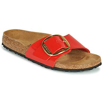 Schuhe Damen Pantoffel Birkenstock MADRID BIG BUCKLE Rot