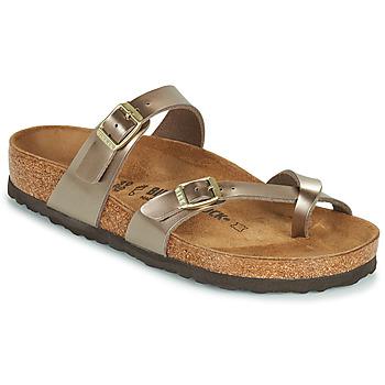 Schuhe Damen Pantoffel Birkenstock MAYARI Gold