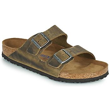 Schuhe Herren Pantoffel Birkenstock ARIZONA SFB Kaki