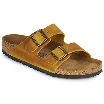 Schuhe Herren Pantoffel Birkenstock ARIZONA SFB Gelb
