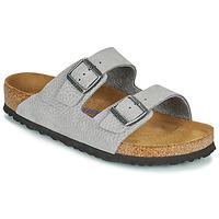 Schuhe Herren Pantoffel Birkenstock ARIZONA SFB Grau