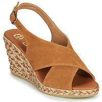 Schuhe Damen Sandalen / Sandaletten Betty London OHINDRA Cognac