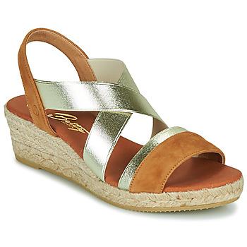 Schuhe Damen Sandalen / Sandaletten Betty London OLINDRE Cognac