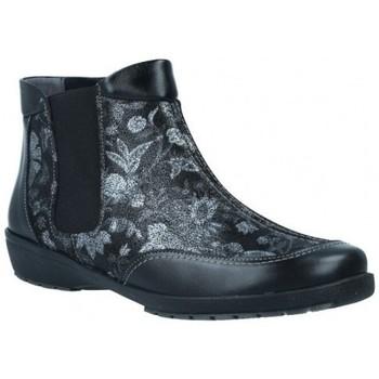 Schuhe Damen Low Boots Suave 3025 Damen Stiefeletten Schwarz