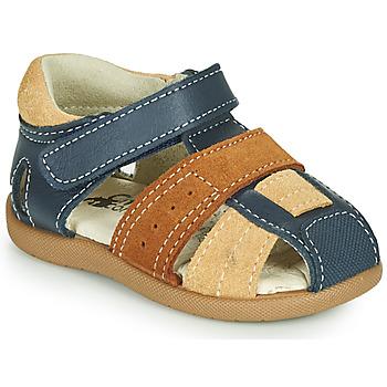 Schuhe Jungen Sandalen / Sandaletten Citrouille et Compagnie OLOSS Blau / Braun