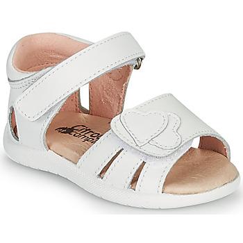 Schuhe Mädchen Sandalen / Sandaletten Citrouille et Compagnie OLESS Weiss