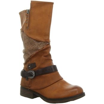 Schuhe Damen Klassische Stiefel Laufsteg München Stiefel HW190211 braun