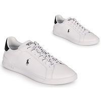 Schuhe Sneaker Low Polo Ralph Lauren HRT CT II-SNEAKERS-ATHLETIC SHOE Weiss / Schwarz