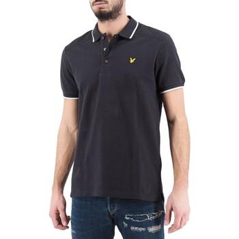 Kleidung Herren Polohemden Lyle & Scott Lyle  Scott  Nylon-Panel-Poloshirt schwarz  LYSMLSSP111 Noir