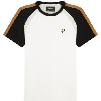 Kleidung Herren Langarmshirts Lyle & Scott Lyle  Scott   T-Shirt mit drei Armeln weiss  LYSTS1354V blanc