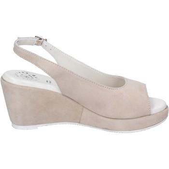 Schuhe Damen Sandalen / Sandaletten Adriana Del Nista Sandalen Wildleder Beige