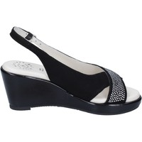Schuhe Damen Sandalen / Sandaletten Adriana Del Nista Sandalen Wildleder Schwarz
