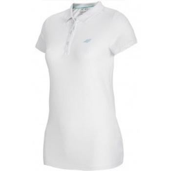 Kleidung Damen Polohemden 4F Womens Polo Weiß