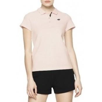 Kleidung Damen Polohemden 4F Womens T-shirt Rosa