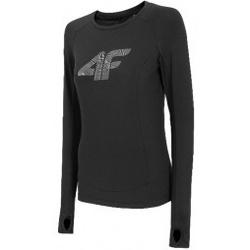 Kleidung Damen Sweatshirts 4F Womens Functional Longsleeve Schwarz