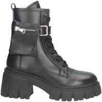 Schuhe Damen Low Boots Tsakiris Mallas 859 CAROLINA 6-1 Stiefel Frau SCHWARZ SCHWARZ
